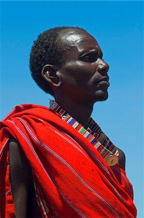Portrait of Masai at Magadi Lake Village, Kenya Stock Photo - Rights-Managed, Code: 700-03567761