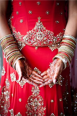 Close-up of Henna on Bride's Hands Stock Photo - Rights-Managed, Code: 700-03567854