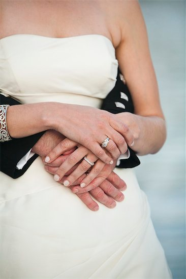 Close-up of Bride and Groom Hugging Stock Photo - Premium Rights-Managed, Artist: Ikonica, Image code: 700-03567858