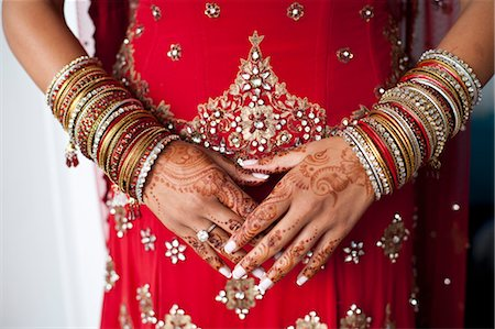 Close-up of Henna on Bride's Hands Stock Photo - Rights-Managed, Code: 700-03567853