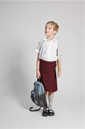 school girl uniforms - Portrait of Schoolgirl Stock Photo - Rights-Managed, Code: 700-03567944