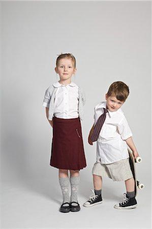 school girl uniforms - Portrait of School Children Stock Photo - Rights-Managed, Code: 700-03567942