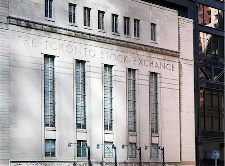 Former Toronto Stock Exchange, Bay Street, Toronto, Ontario, Canada Stock Photo - Rights-Managed, Code: 700-03567951