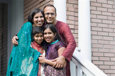 east indian (male) - Portrait of Family in Front of Home Stock Photo - Rights-Managed, Code: 700-03568009