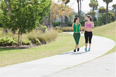 Two Women Walking Stock Photo - Rights-Managed, Code: 700-03568045