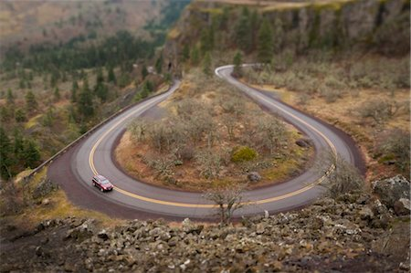 View of Columbia River Highway near Rowena, Oregon, USA Stock Photo - Rights-Managed, Code: 700-03563835