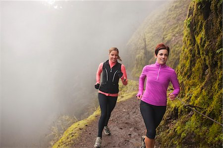 Women Running in Eagle Creek, Columbia River Gorge, Oregon, USA Stock Photo - Rights-Managed, Code: 700-03563847