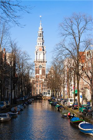 Zuiderkerk by Groenburgwal Canal, Amsterdam, Netherlands Stock Photo - Rights-Managed, Code: 700-03573870