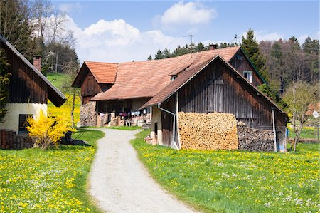 quaint house - Rustic Farm Buildings, Lindau, Bavaria, Germany Stock Photo - Rights-Managed, Code: 700-03573887