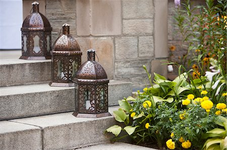 Lanterns on Steps Stock Photo - Rights-Managed, Code: 700-03586303
