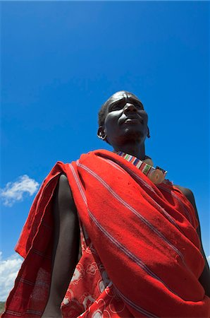 Portrait of Masai Man, Magadi Lake, Kenya, Africa Stock Photo - Rights-Managed, Code: 700-03586759