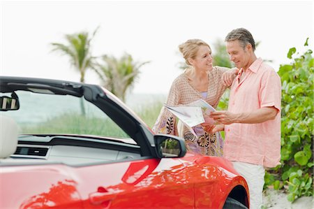 Couple Looking at Map Stock Photo - Rights-Managed, Code: 700-03587082
