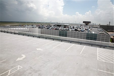 Parking Lot at Airport, Houston, Texas Stock Photo - Rights-Managed, Code: 700-03587104