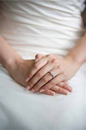 ring hand woman - Bride's Hands with Engagement Ring Stock Photo - Rights-Managed, Code: 700-03587158