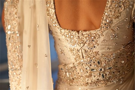 Back of Hindu Bride's Wedding Gown Stock Photo - Rights-Managed, Code: 700-03587179