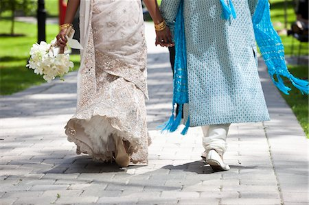 Bride and Groom Holding Hands Stock Photo - Rights-Managed, Code: 700-03587197