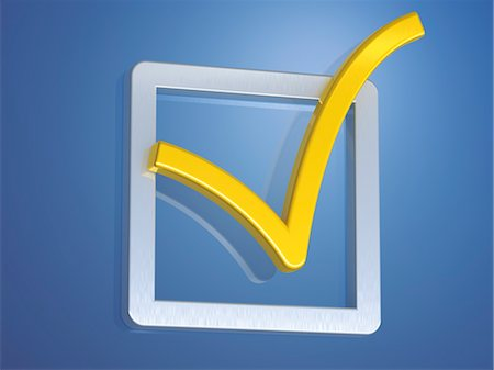 Check Mark in Box Stock Photo - Rights-Managed, Code: 700-03587258