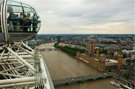 London Eye Overlooking London, England Stock Photo - Rights-Managed, Code: 700-03601367