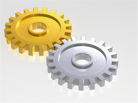 Gold and Silver Gears Stock Photo - Rights-Managed, Code: 700-03601449