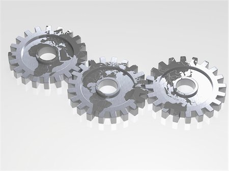 World Map on Gears Stock Photo - Rights-Managed, Code: 700-03601450