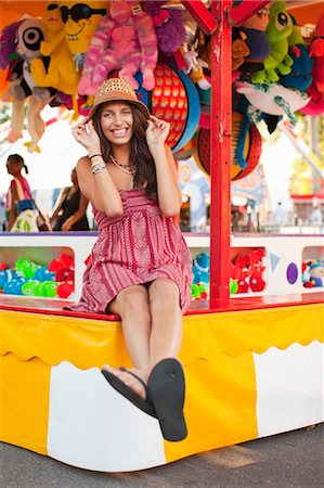 Young Woman at an Amusement Park, Portland, Oregon, USA Stock Photo - Rights-Managed, Code: 700-03616040