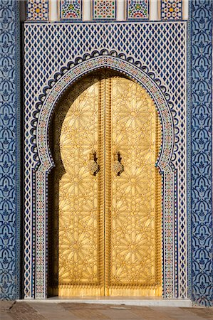 Door at Royal Palace, Fez, Morocco Stock Photo - Rights-Managed, Code: 700-03612971