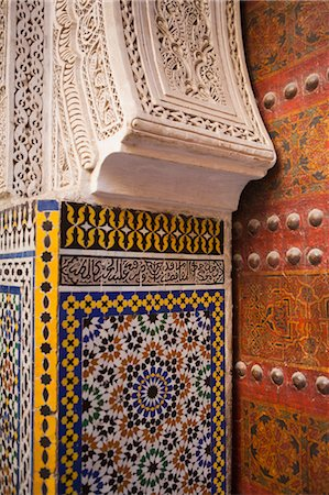 Detail of Main Door of Sidi Ahmed Tijani Mosque, Fez, Morocco Stock Photo - Rights-Managed, Code: 700-03612987