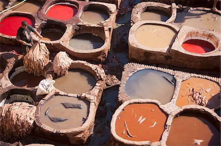 dyed - Tannery, Fez, Morocco Stock Photo - Rights-Managed, Code: 700-03612982