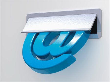 At Symbol in Mail Slot Stock Photo - Rights-Managed, Code: 700-03613001
