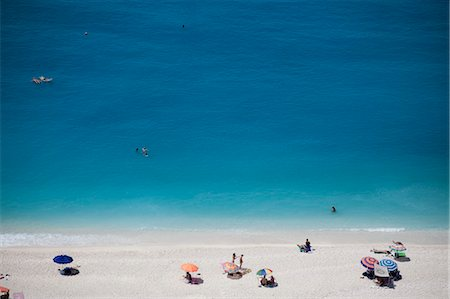 Overview of Beach, Kefalonia, Ionian Islands, Greece Stock Photo - Rights-Managed, Code: 700-03621190