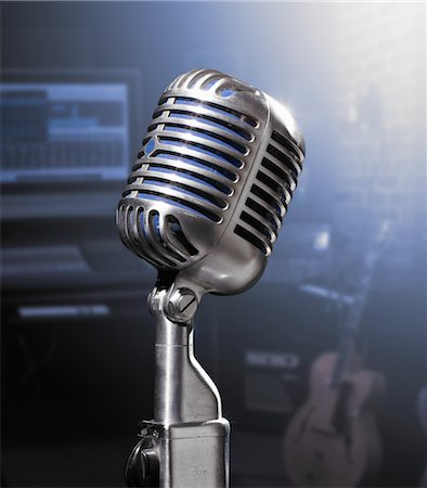 Microphone Stock Photo - Rights-Managed, Code: 700-03621323
