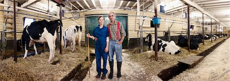 Portrait of Farmers in Barn, Ontario, Canada Stock Photo - Rights-Managed, Code: 700-03621426