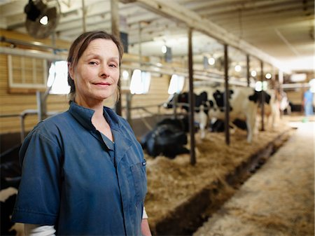 Portrait of Farmer in Barn, Ontario, Canada Stock Photo - Rights-Managed, Code: 700-03621431