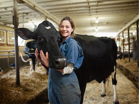 Portrait of Farmer with Cow, Ontario, Canada Stock Photo - Rights-Managed, Code: 700-03621433