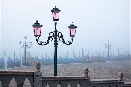 Gondolas at Saint Mark's Square at Dawn, Venice, Veneto, Italy Stock Photo - Rights-Managed, Code: 700-03622727