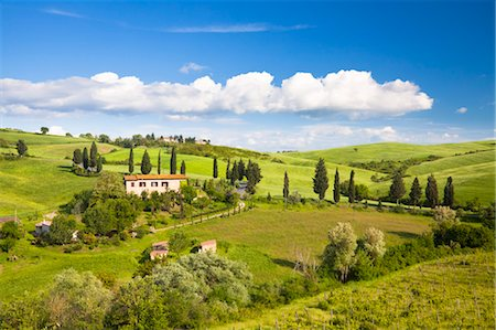 Farmhouse, Monticchiello, Tuscany, Italy Stock Photo - Rights-Managed, Code: 700-03622777