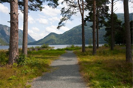 Path towards Water, Dalen, Telemark, Norway Stock Photo - Rights-Managed, Code: 700-03622796