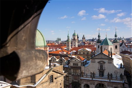 small town snow - Old Town View From Charles Brige, Prague, Czech Republic Stock Photo - Rights-Managed, Code: 700-03622833