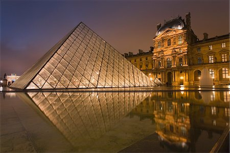 IM Pei Pyramid at the Louvre, 1st Arrondissement, Paris, Ile-de-France, France Stock Photo - Rights-Managed, Code: 700-03622859