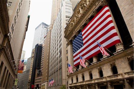 stock exchange building - New York Stock Exchange, Wall Street, Manhattan, New York City, New York, USA Stock Photo - Rights-Managed, Code: 700-03622914