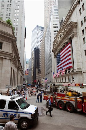 stock exchange building - New York Stock Exchange, Wall Street, Manhattan, New York City, New York, USA Stock Photo - Rights-Managed, Code: 700-03622915