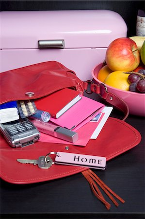 Handbag, Mail and Fruit Bowl Stock Photo - Rights-Managed, Code: 700-03622943