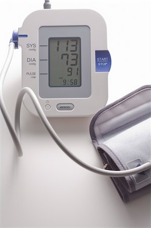 pressure - Still Life of Blood Pressure Monitor Stock Photo - Rights-Managed, Code: 700-03623002