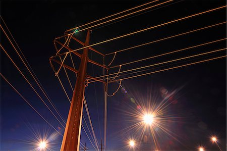 Looking Up at Power Lines Stock Photo - Rights-Managed, Code: 700-03623027