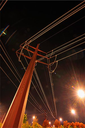 Looking Up at Power Lines Stock Photo - Rights-Managed, Code: 700-03623028