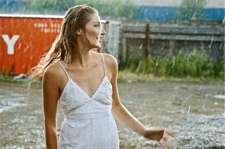 Women Standing in the Rain Stock Photo - Rights-Managed, Code: 700-03638657
