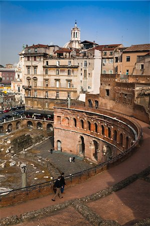 Trajan's Forum and Trajan's Market, Rome, Italy Stock Photo - Rights-Managed, Code: 700-03639096