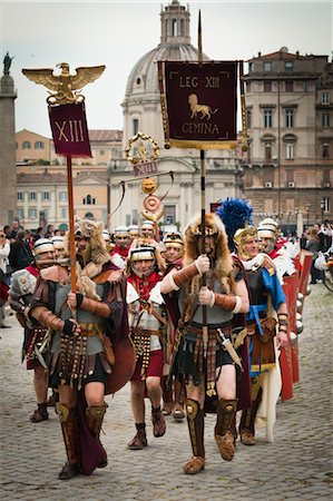 Historical Re-enactment to Celebrate the Founding of Rome on April 21, 753 BC, Rome, Italy Stock Photo - Rights-Managed, Code: 700-03639106