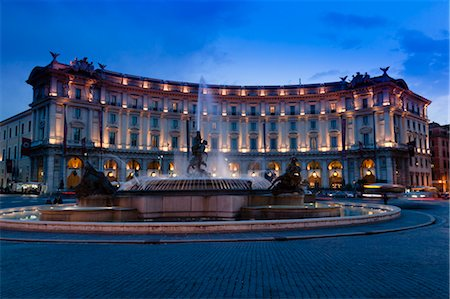Piazza della Repubblica, Rome, Italy Stock Photo - Rights-Managed, Code: 700-03639233