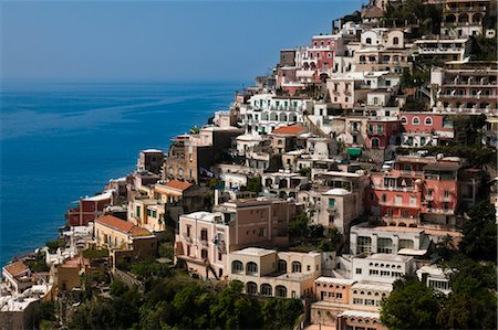 european hillside town - Positano, Amalfi Coast, Province of Salerno, Campania, Italy Stock Photo - Rights-Managed, Code: 700-03639252